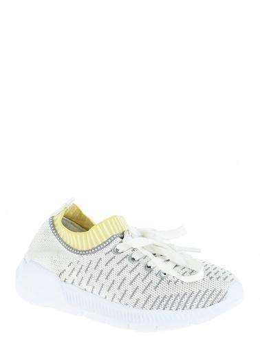 Limon Company Bağcıklı Çizgili Ayakkabı Siyah